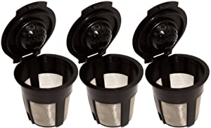 Blendin Single Reusable Refillable Coffee Filter Pod,Compatible with Keurig B40, B41, B44, B45, B50, B60, B65, B70, B75, B77, B79, K10, K40, K45, K60, K65, K70, K75, K77, K79 (3 Pack)