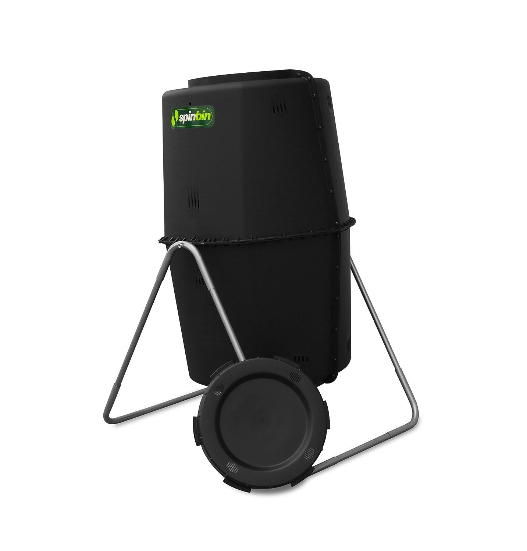 Spin Bin - Compostadora de 227 lRecipiente girador para compost con estilo de barril negro de gran capacidad: Amazon.es: Jardín