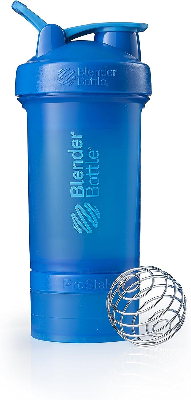 BlenderBottle C01714 ProStak System with 22-Ounce Bottle and Twist n' Lock Storage, 22 oz, Cyan