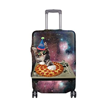 88304a69d Amazon.com | Galaxy Pizza Cat Luggage Cover for Travel- Suitcase Protective Bag  Cover Fit 18-32 Inch Luggage | Suitcases