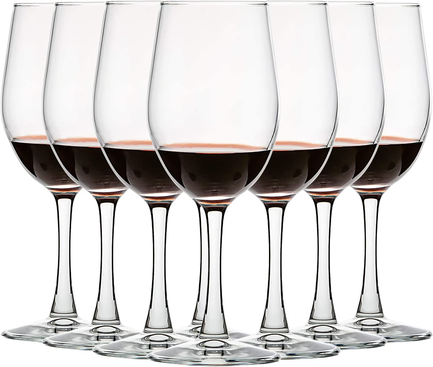 12oz Wine Glasses , American Style White or Red Wine Glasses Set of 8 , All-Purpose , Lead Free