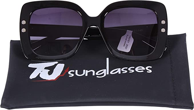 Amazon.com: TJsunglasses - Gafas de sol para mujer, negro, M ...