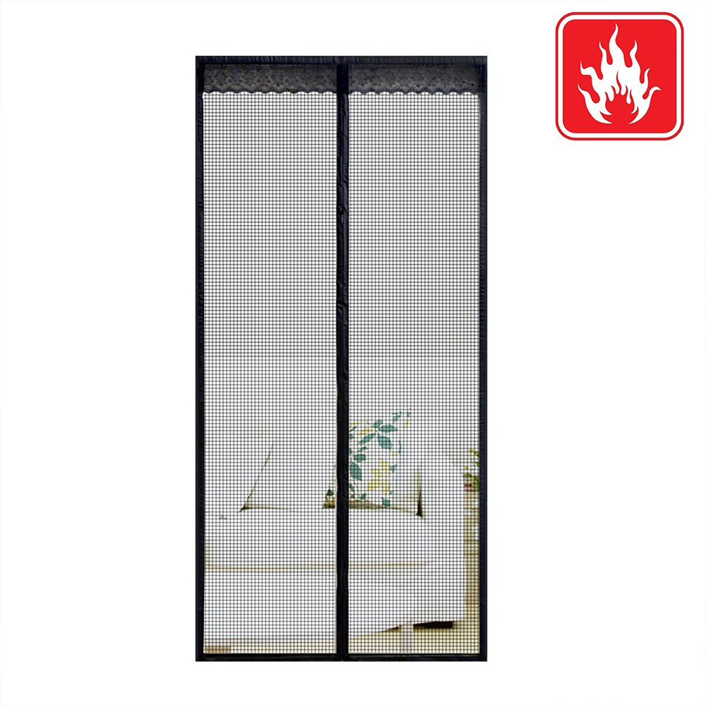 Magnetic Fly Screen Door, Flame-retardant Material Transparent Soft Door Curtain Anti-Mosquito Denser Durable Magnetic Strips Automatic Attraction Door Curtain Whisper Quite Hand-sewn Hook Loop Fasten