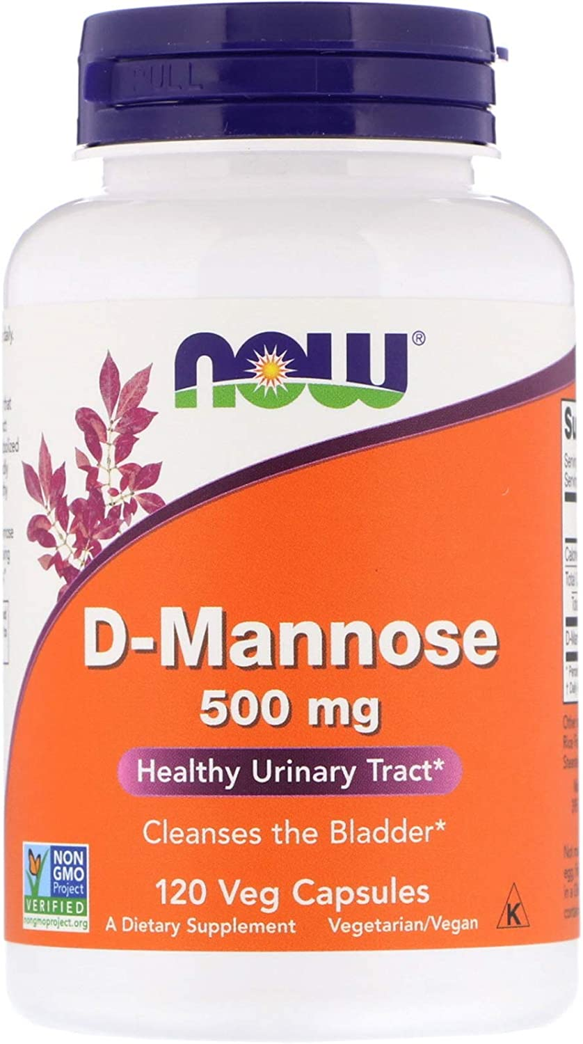 NOW Foods D-Mannose 500 mg, 120 Vegetable Capsule (2 Pack): Health & Personal Care
