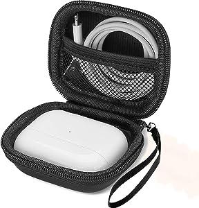 ProCase AirPods Pro Case Jabra Elite 75t Earbuds Case, Hard EVA Shockproof Travel Carrying Case for Apple AirPods Pro Charging Case 2019 /Jabra Elite 75t –Black