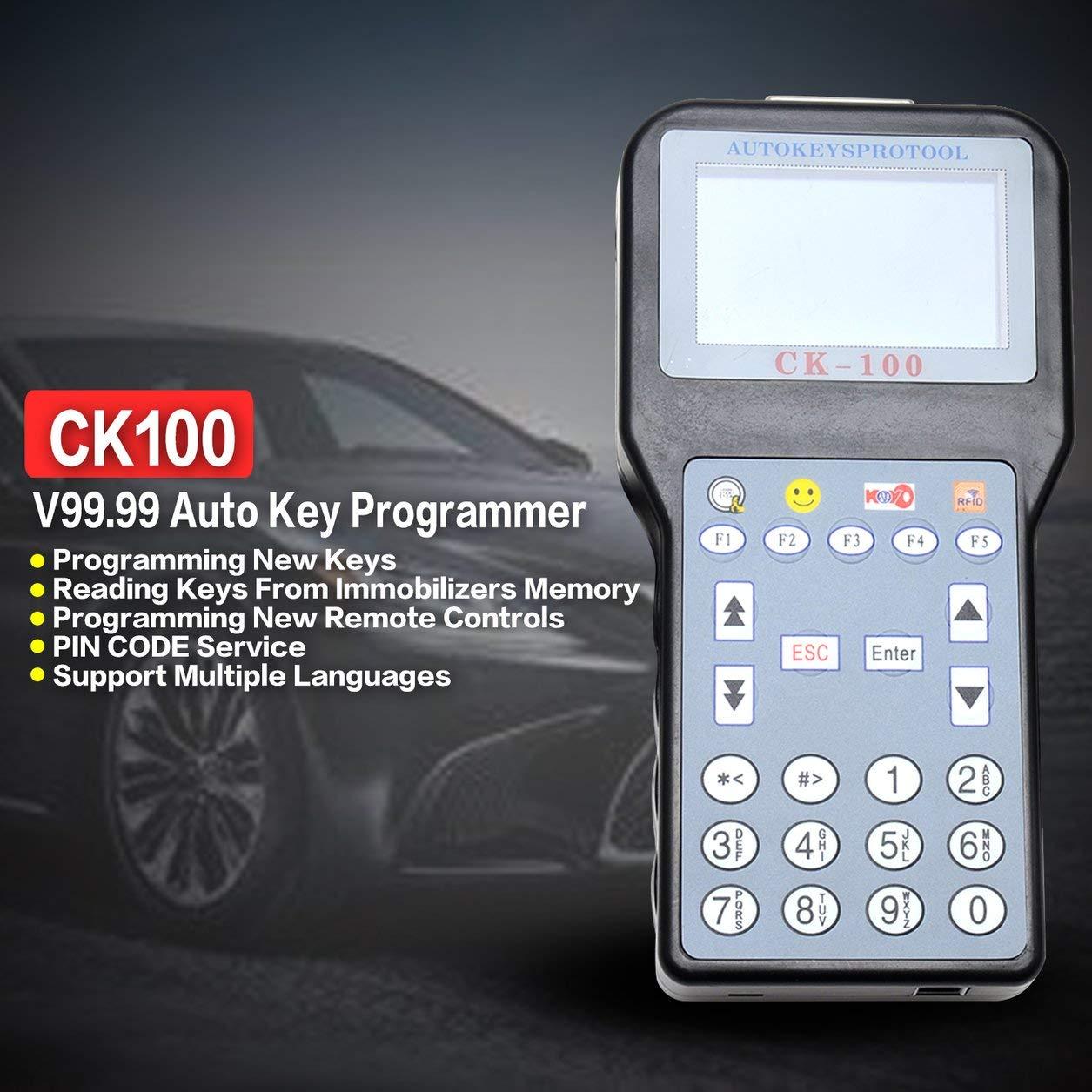 CK-100 Neueste Generation SBB Autoschlü ssel Maker Auto Selbstschlü sselprogrammierer V99.99 OBD2 Transponder 1024 Tokens (Farbe: Schwarz) Dailyinshop