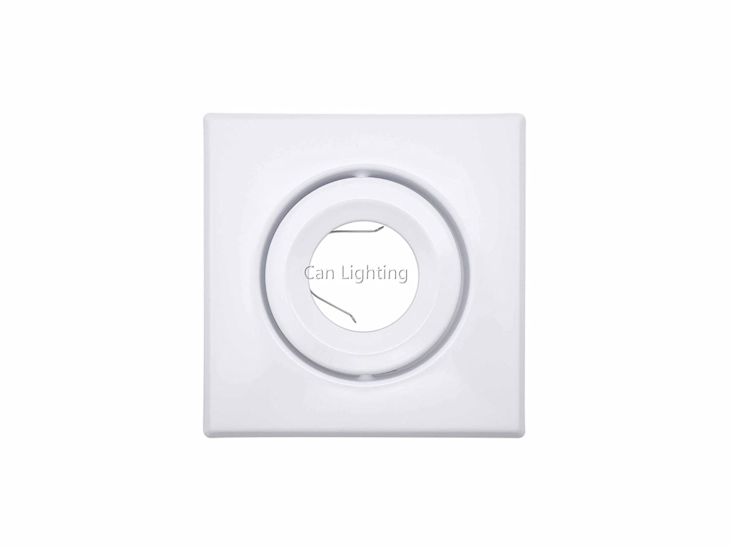 Pack of 2 Pieces, Recessed Lighting, 4 inch PAR16/MR16/GU10 Trim, Gimbal, Square White CAN LIGHTING