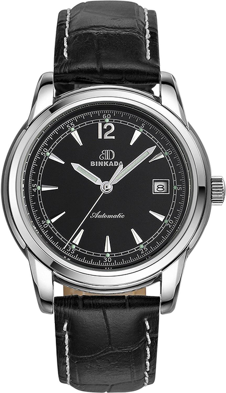 BINKADA人気自動機械ブラックダイヤルメンズ腕時計# 706202 – 2 B01DZKZF8S