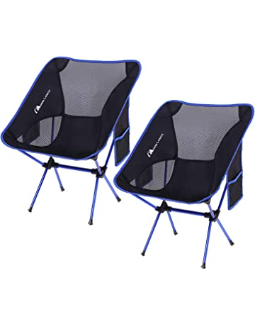 6e2215386c63 MOON LENCE Outdoor Ultralight Portable Folding Chairs with Carry Bag Heavy  Duty 242lbs Capacity Camping Folding