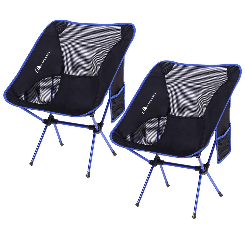MOON LENCE Outdoor Ultralight Portable Folding Chairs with Carry Bag Heavy Duty 242lbs Capacity Camping Folding Chairs Beach Chairs by MOON LENCE