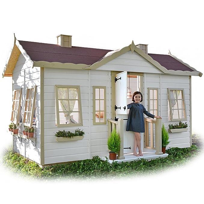 Green House - Casita Infantil de Madera Victoria: Amazon.es: Juguetes y juegos