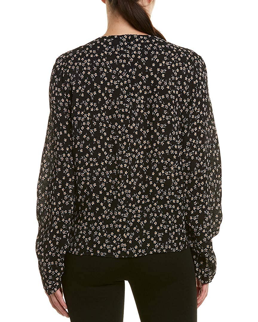 Black 4 Tibi Womens Lila Crepe Top