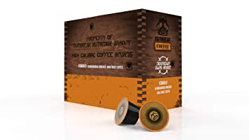 OUTBREAK COFFEE - KSM66 ASHWAGANDHA ENRICHED (Doomsday Dark Roast) 24 x