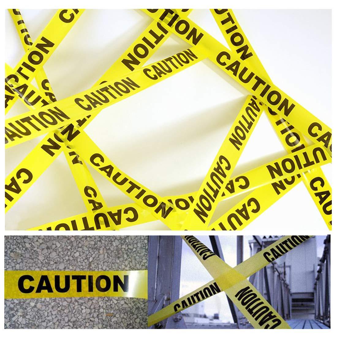 F/üR Stufen-Eigenschafts-Gaslinie-Strafverfolgungs-Bau-Arbeiten 100M Warnband Vorsicht Band Warnung Absperrband Bodenmarkierungsband Gelb Schwarzes Nichtklebendes Sicherheitsband
