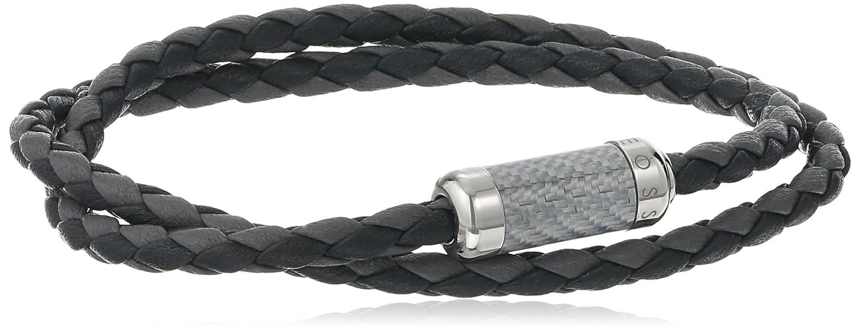 Tateossian Unisex Unisex Silver Green Alutex Clasp Green Leather 38cm Wrap Bracelet oYNbr