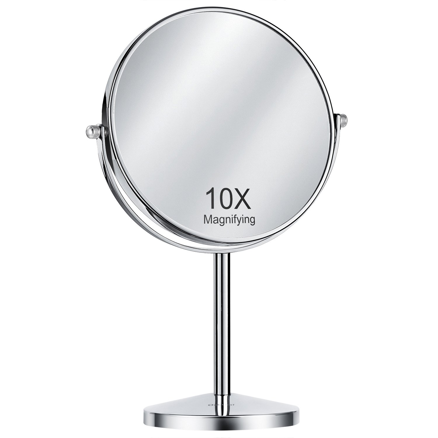 Magnifying Makeup Mirror, Oak Leaf Double-sided 1x/10X Magnification Tabletop Swivel Vanity Mirror, 8 Inch