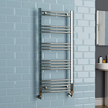 ibathuk kudox 1200 x 500 chrome heated towel rail designer bathroom radiator ns1200500p - Designer Heated Towel Rails For Bathrooms