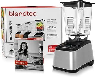 product image for Blendtec Designer 725 Blender with BPA-Free WildSide Jar with Vented Gripper Lid + Blendtec Recipe Book and Starter Guide - Stainless Steel