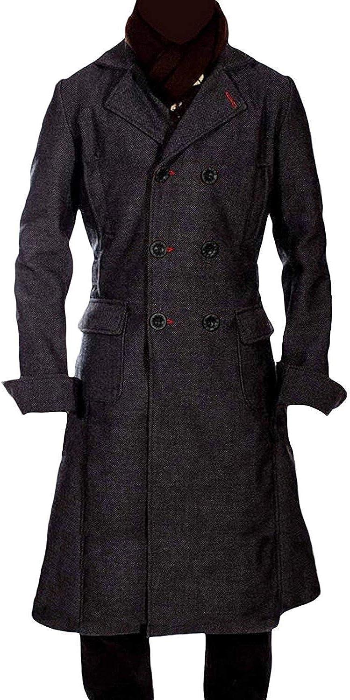 Sherlock Holmes Benedict Cumberbatch Black Wool Long Trench Coat