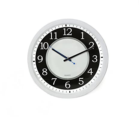 Amazon.com: Contemporary Designer Wall Clock, Mute Mechanical ...