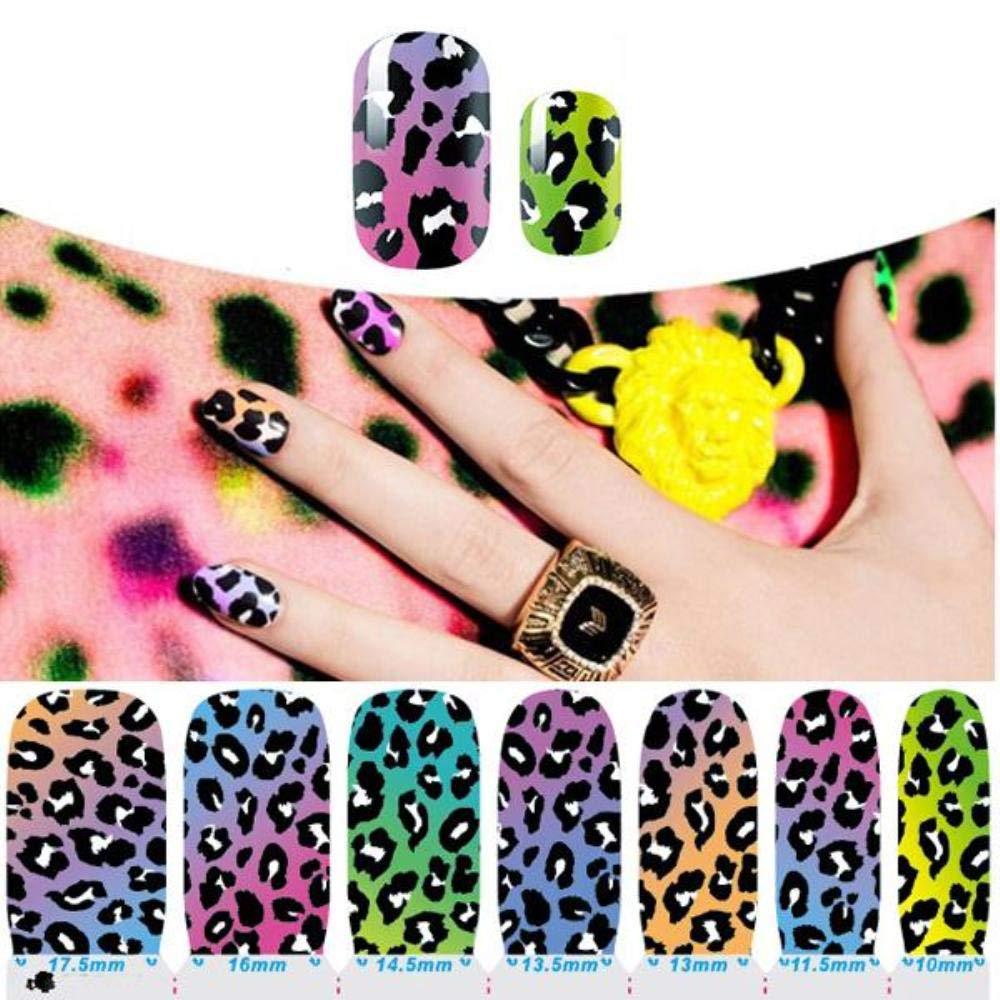 Amazon com: Water Transfer Nails Art Sticker Leopard Design
