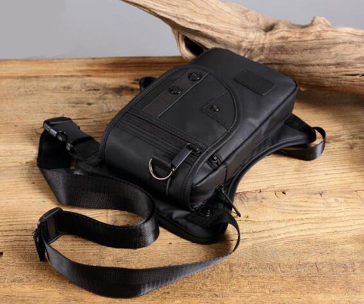 Yanbao Black nylon Tactical Drop Leg Bag Pack Fanny Bag Pack for Men and Women