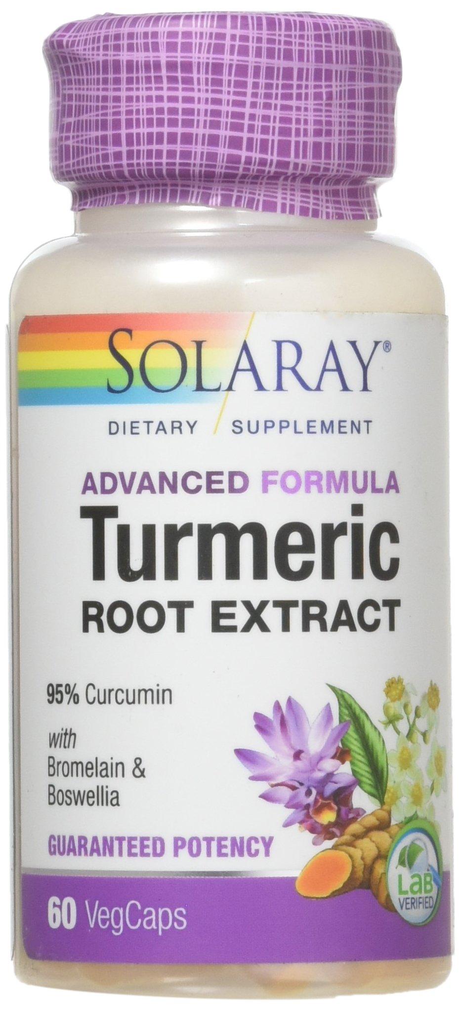 Solaray - Guaranteed Potency Turmeric Root Extract, 200 mg,60 Capsules