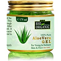Indus Valley Bio Organic Non-Toxic Aloe Vera Gel for Acne, Scars, Glowing & Radiant Skin Treatment-175ml