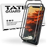 TATE GUARD iPhone XS/X 専用 全面ガラスフィルム【ゲーマーに嬉しいサラサラ感&ケースと併用できる】反射防止 フルカバー アンチグレア 強化ガラス液晶フィルム (5.8インチ, アンチグレア)