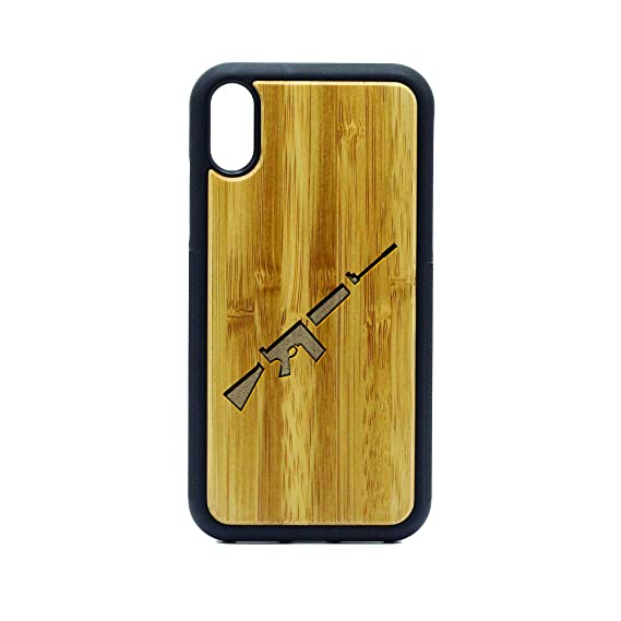 Amazon com: FN FAL ICON Symbol - iPhone XR CASE - Bamboo