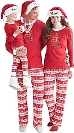 Pigiama Natale Famiglia Due Pezzi Xmas Pantaloni e T-Shirt ...