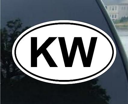 Key west euro oval bumper sticker