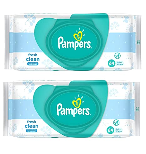 Pampers Baby Wipes, 128 Pieces (Multicolour)