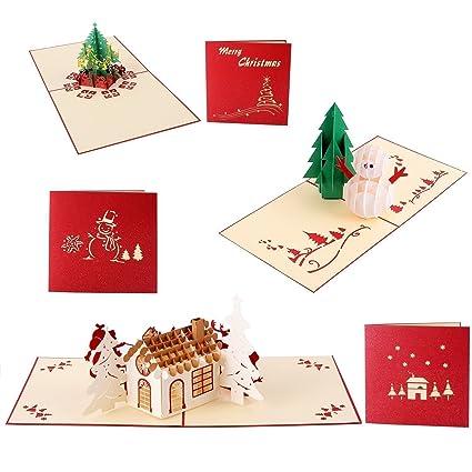 Auguri Di Natale 3d.Christmas 3d Biglietti Di Auguri Joseche 3d Pop Up Laser Biglietti