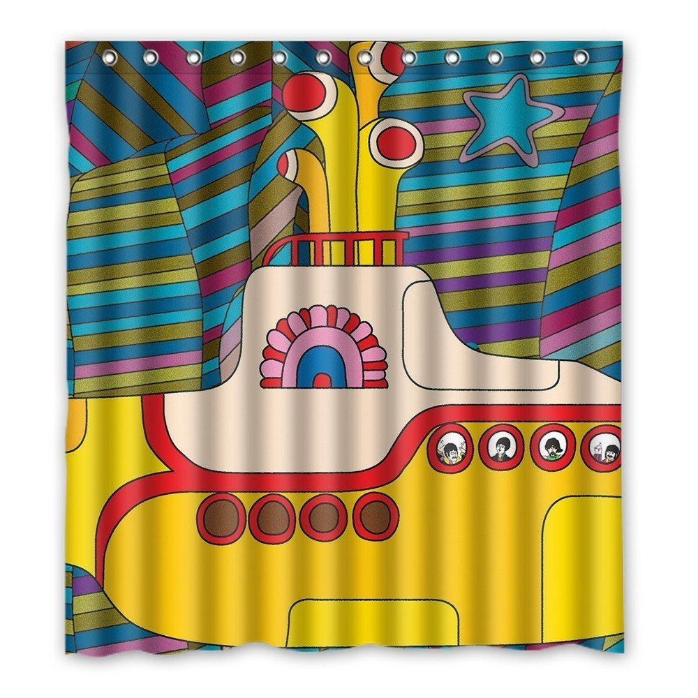 Yellow Submarine Funny Art Decor Shower Curtain 60X72 Inch TsuiTsui