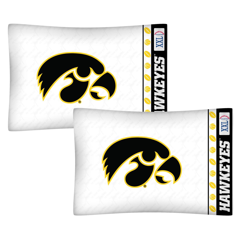 NCAA Iowa Hawkeyes Football Set of Two Pillowcases