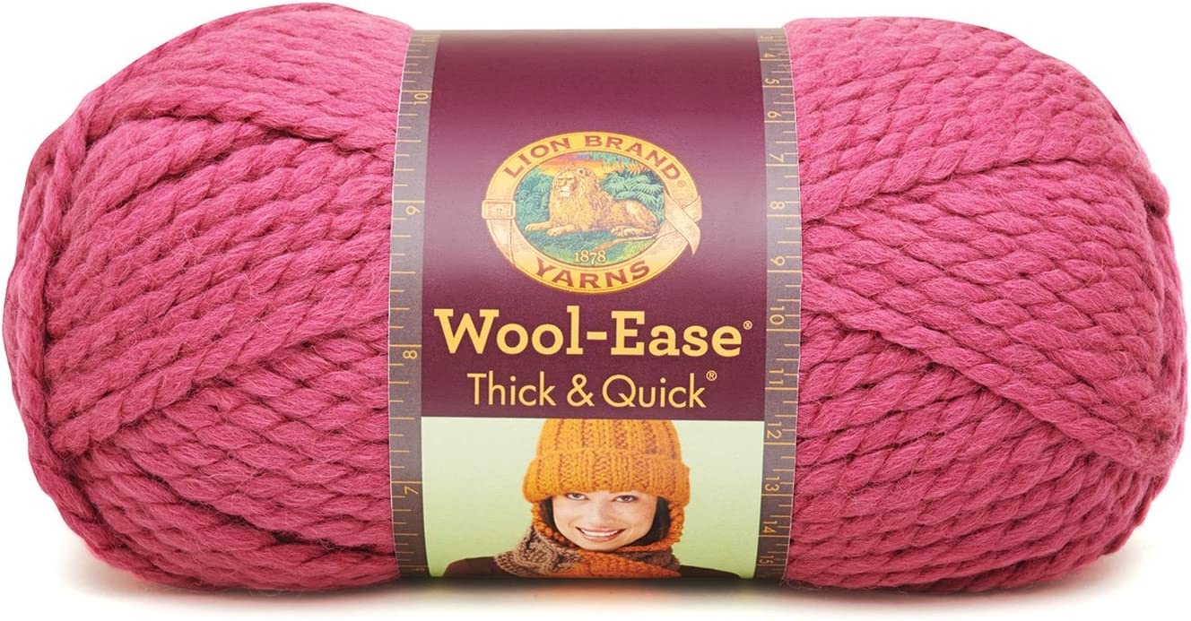 Lion Brand Yarn 640-135 Wool-Ease Thick and Quick Yarn Spice