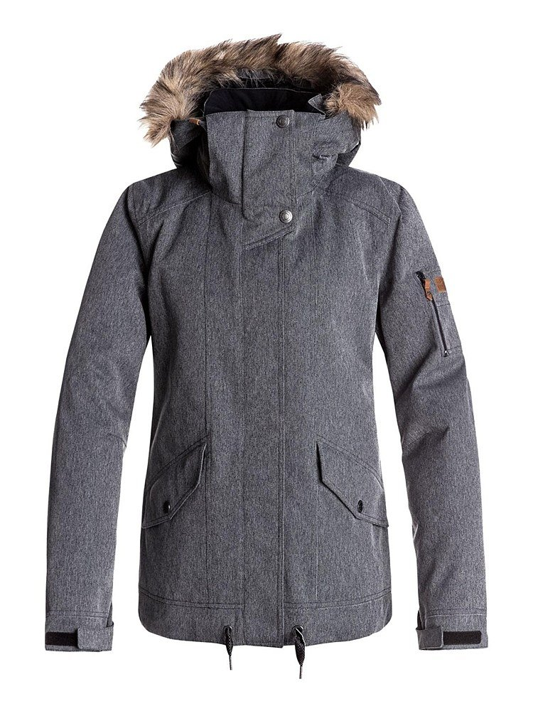 Roxy SNOW Junior's Grove Snow Jacket, Herringbone Grey, L