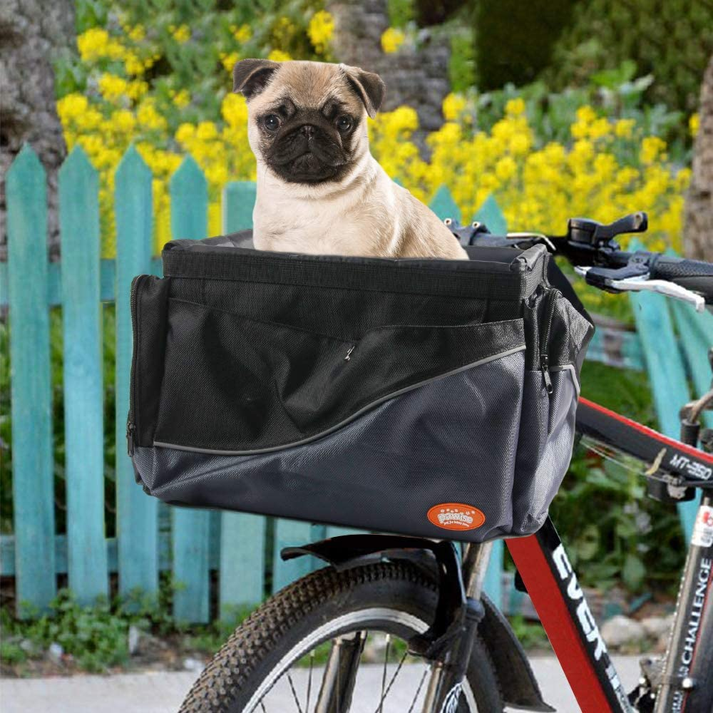 PAWISE Bike Basket Folding Bag for Small Dog