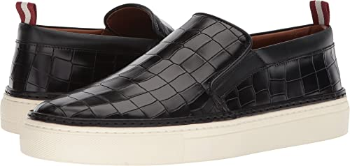 embudo En honor grupo  Bally Mens Herrison Croc Embossed Slip-On Black Size: 5.5 D UK: Amazon.co.uk:  Shoes & Bags