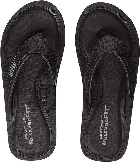 Skechers Flip Flops Gr.41 schwarz Herren Sandalen Schuhe