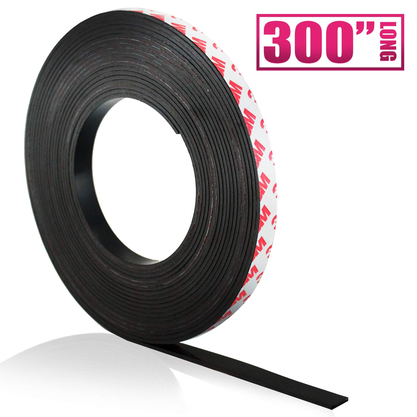 Craftopia Self Adhesive Magnet Strip Cuttable Roll | .5 inch x 300 inch | Sticky Back Magnetic Tape | Strong, Flexible, Easy to Cut Peel and Stick Magnetic | Thick 50 mil | Crafts, Gifts, Office, Home