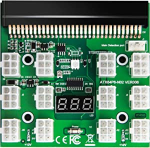WESTLIN BTC ETH ZEC Mining GPU/PSU Power Supply Breakout Board Adapter 12V for DPS-1200FB DPS-1200QB PS-2751-5Q HSTSN-PL12 DPS-700LB PS-2112-5L DPS-750RB DL580 Series (Support Up to 1600W)