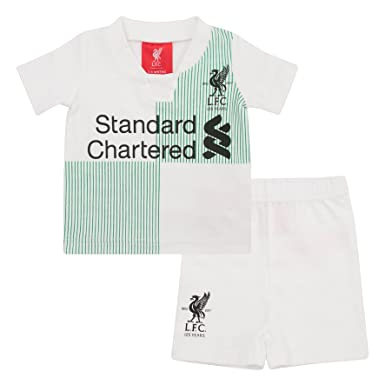 76124c737 Liverpool FC Baby Boys Girls T Shirt   Short Away Kit 2017 2018 LFC Official