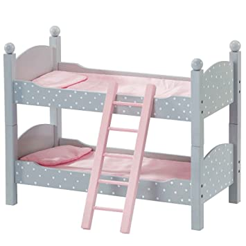 Olivia S Little World Princess 18 Doll Double Bunk Bed Grey Polka