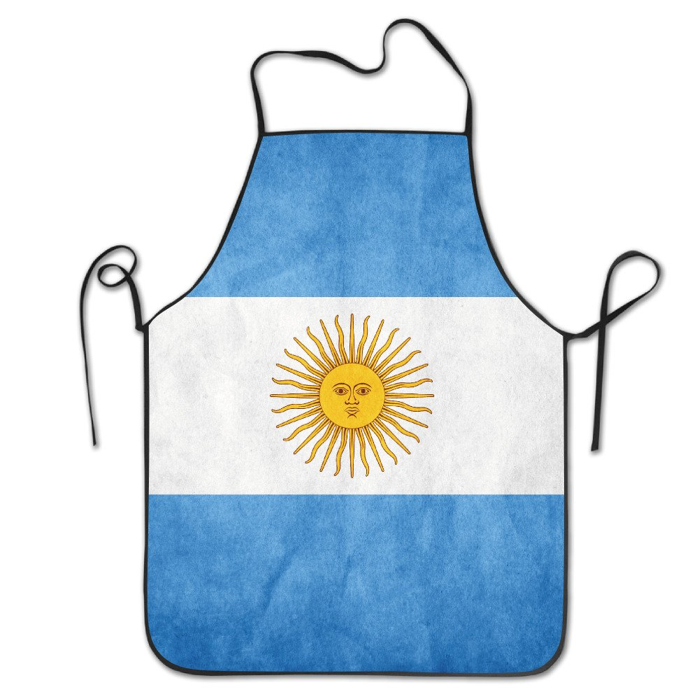 Bright Men& Women Argentina Flag Vintage Chef& Cook Kitchen Bib Apron Waterproof Perfect for Cooking, Baking, Crafting, BBQ