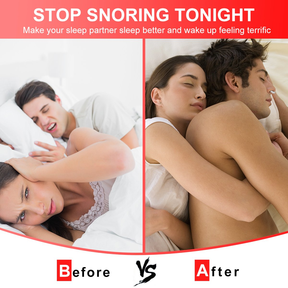Anti Snoring Devices Tongue, 4 Set Snore Stopper Nose Vents Nasal Dilators Stop Snoring Solution Snoring Mouthpiece Sleep Aid Device Silicone Tongue Retainer for Men Women (Stop snoring Devices) by Usleepy (Image #4)