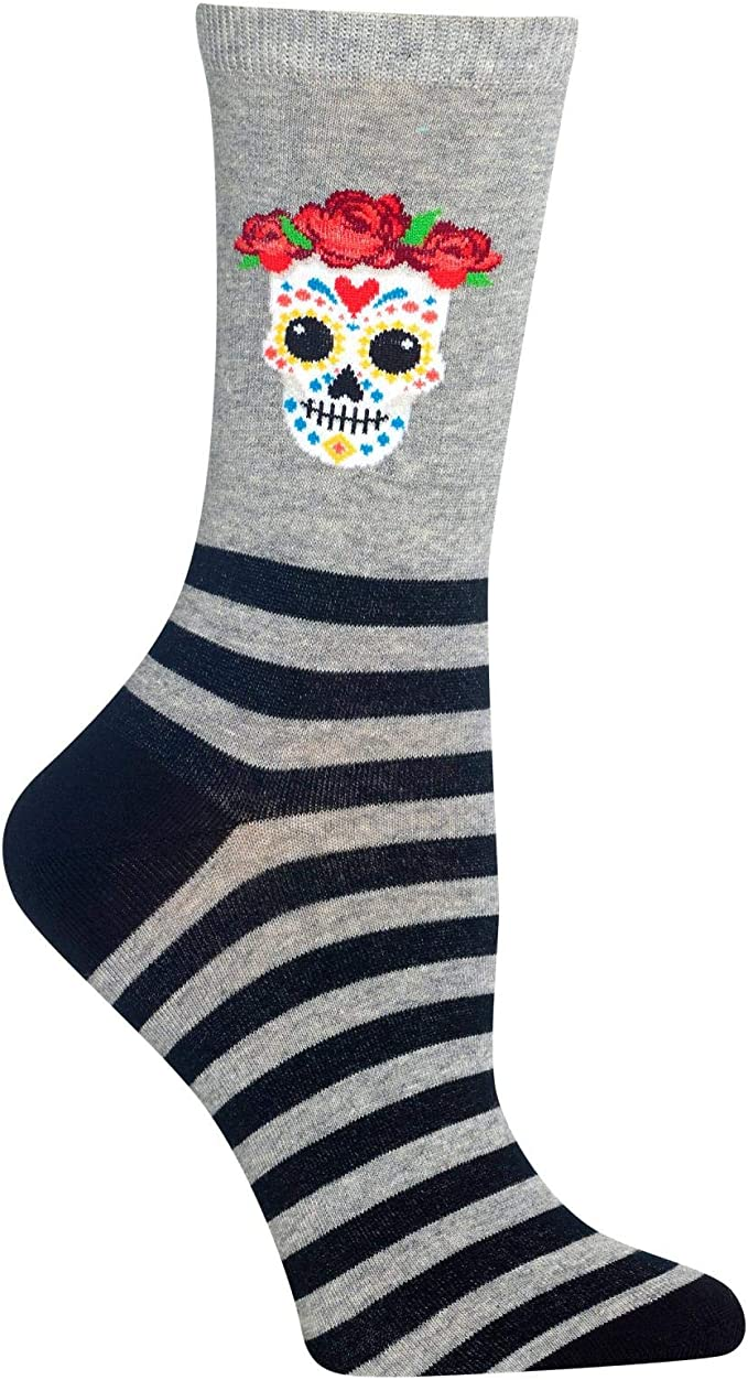 Hot Sox Halloween Themed Crew Socks 1 Pair, Women's Shoe Size 4-10 / Sock size 9-11