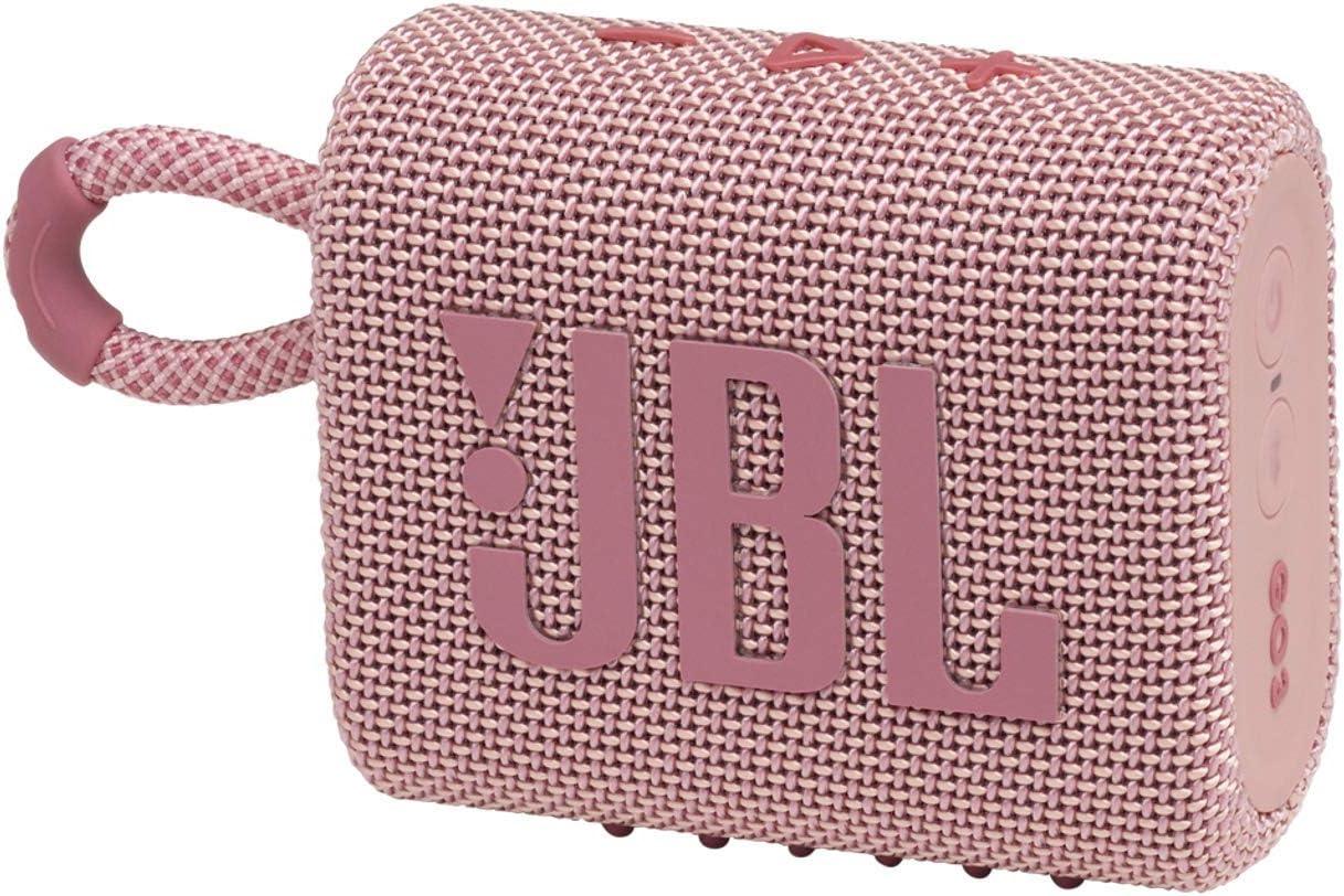 Jbl Go 3 Kleine Bluetooth Box In Pink Wasserfester Tragbarer Lautsprecher Für Unterwegs Bis Zu 5h Wiedergabezeit Mit Nur Einer Akkuladung Audio Hifi