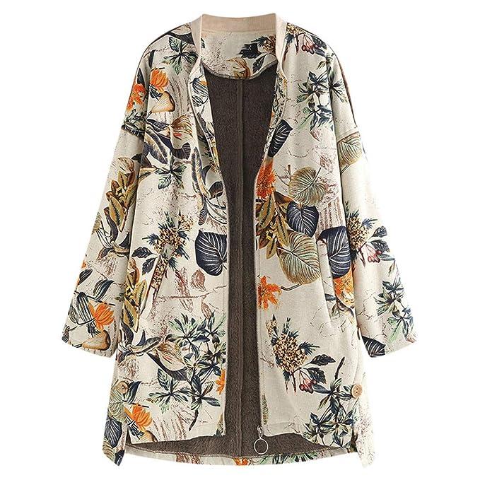 Topgrowth Cappotto Donna Vintage Cappotto A Maniche Lunghe